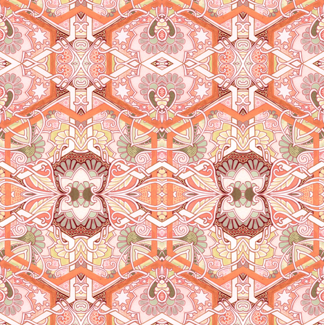 It Was Only a Kiss fabric by edsel2084 on Spoonflower - custom fabric