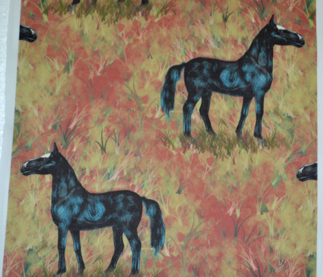 Black Horse in Diamonds