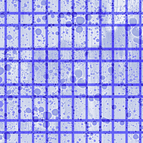 ink splatter small periwinkle plaid fabric by weavingmajor on Spoonflower - custom fabric