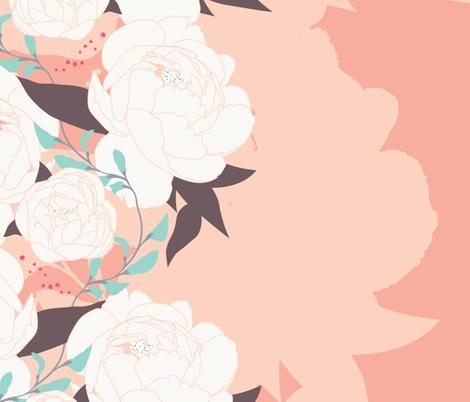 Spring Tea Garden Pink fabric by zesti on Spoonflower - custom fabric