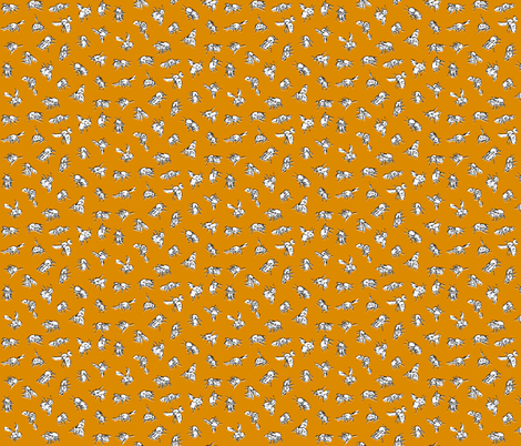 Bombus pascuorum Orange fabric by thomas_henderson on Spoonflower - custom fabric