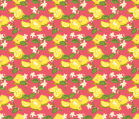 Chintzy Citrus co-ordinate fabric by seesawboomerang on Spoonflower - custom fabric