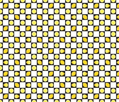 Cafe Citron co-ordinate fabric by seesawboomerang on Spoonflower - custom fabric