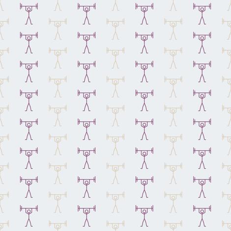 Weights Stripe on Stone fabric by seesawboomerang on Spoonflower - custom fabric