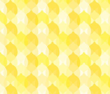 Lemon Layers fabric by seesawboomerang on Spoonflower - custom fabric