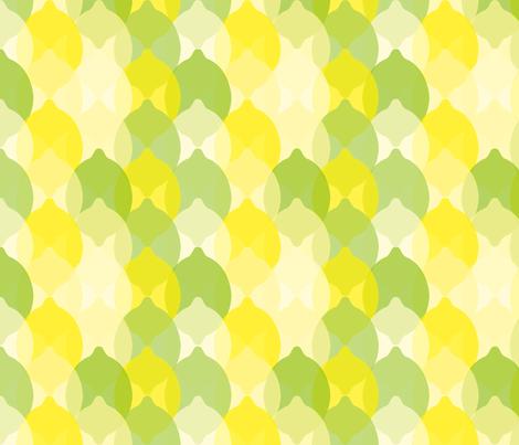 Limey Lemon fabric by seesawboomerang on Spoonflower - custom fabric