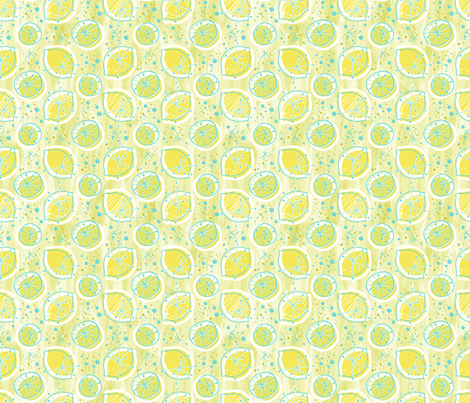 Atomic lemonade_Green & Cerulean fabric by mia_valdez on Spoonflower - custom fabric