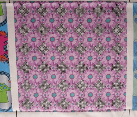 Small Purple Flower Power Optical Illusion