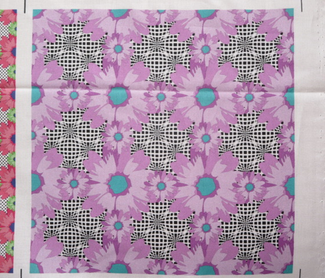 Purple Flower Power Optical Illusion