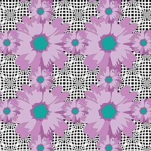 Purple Flower Power Optical Illusion