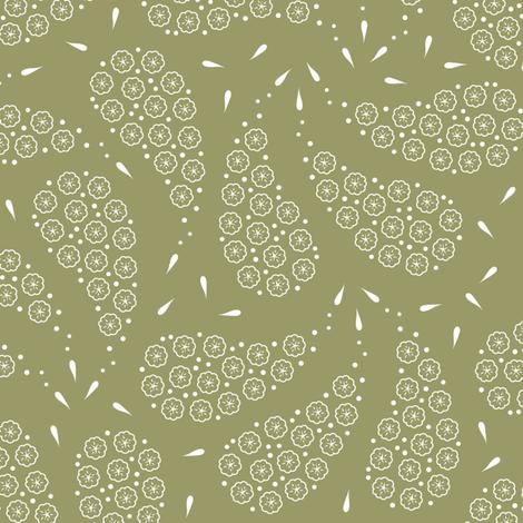 Paisley_flowers_greygreen fabric by align_design on Spoonflower - custom fabric