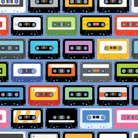 Mixed Tapes fabric by sandityche on Spoonflower - custom fabric