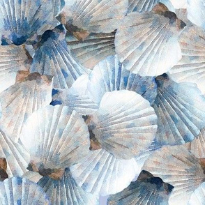 Blue Scallop Shells