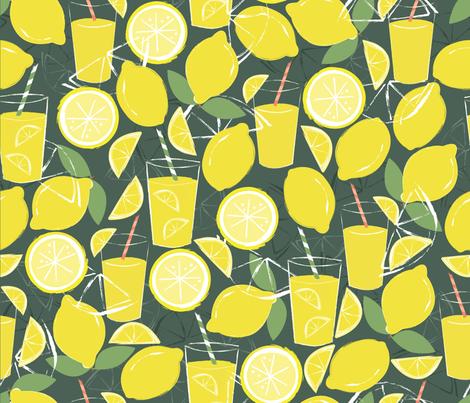 Fresh Lemonade fabric by oliveandruby on Spoonflower - custom fabric