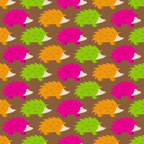 Hegehog Parade (Dark) fabric by robyriker on Spoonflower - custom fabric