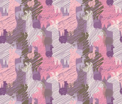 Se llaman llamas fabric by leventetladiscorde on Spoonflower - custom fabric