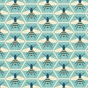 PeachNavy_Bees