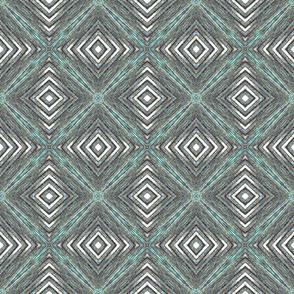 Bargello -grey turquoise