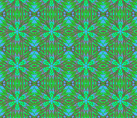 Liquified - blue green - blue fabric by koalalady on Spoonflower - custom fabric