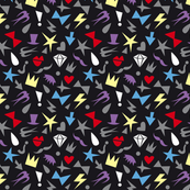fashion flat graphic shaped colored elements