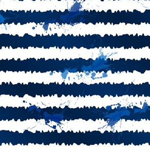 Blue paint stripes
