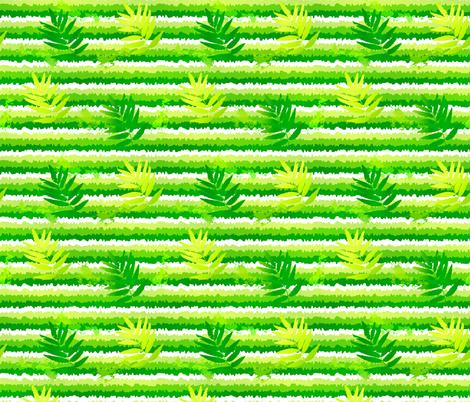 Green leaves fabric by art_of_sun on Spoonflower - custom fabric
