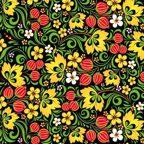 Gooseberry decorative pattern
