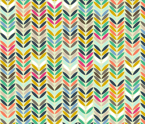 leaf arrow chevron fabric by scrummy on Spoonflower - custom fabric