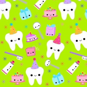 LARGE Happy Party Teeth - Green
