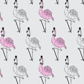 retro style flamingo
