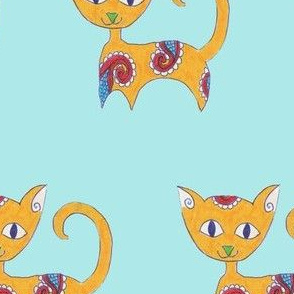 Marmalade Paisley Cat