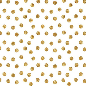 Scatter Glitter Dots in Gold