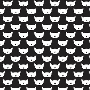 Adorable black and white kitten fun cat illustration in scandinavian abstract style print for kids and cats lovers Small