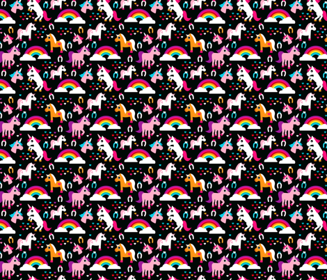 Unicorn rainbow dream adorable horse illustration for girls Small fabric by littlesmilemakers on Spoonflower - custom fabric