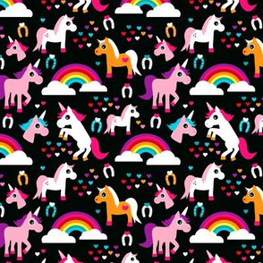 Unicorn rainbow dream adorable horse illustration for girls Small