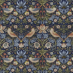 William Morris ~ Strawberry Thief ~ Original Blue