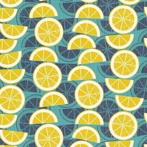 lemonade on blue
