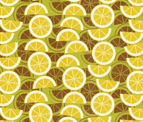 lemonade on green fabric by kociara on Spoonflower - custom fabric