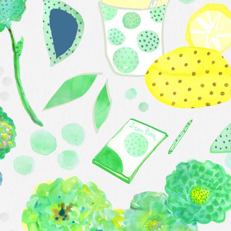 Lemonade fabric by royalfloralcloth on Spoonflower - custom fabric