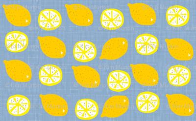 Blue wheat lemonade