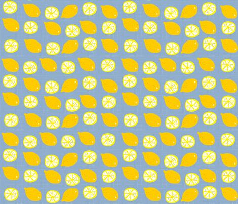 Blue wheat lemonade fabric by kimmurton on Spoonflower - custom fabric