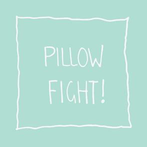 Pillow Fight Mint and White