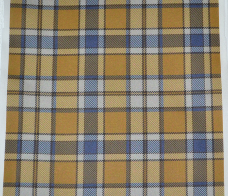 Blue and Gold Plaid