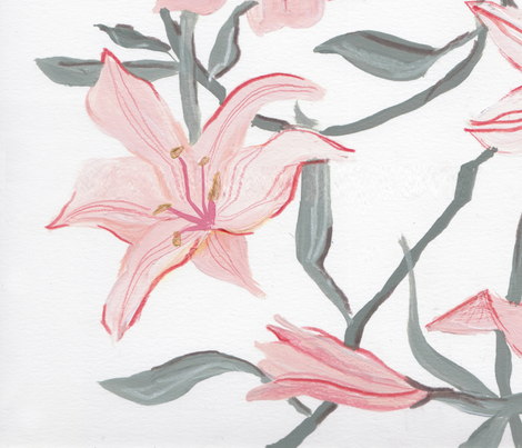 Lily fabric by alicia_rogerson on Spoonflower - custom fabric