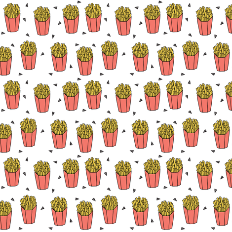 French fries food small version novelty fried food junk for Novelty children s fabric