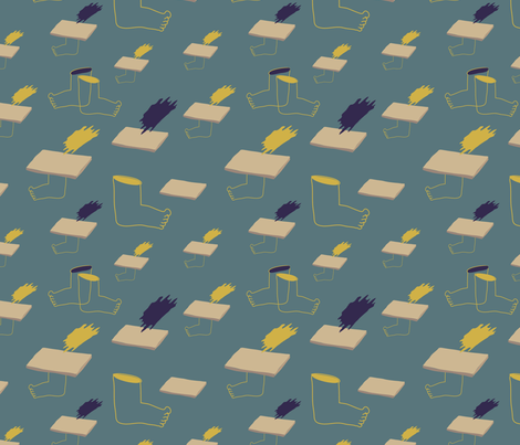 """""""Barefoot in Athens"""" fabric by can_as_pen_design on Spoonflower - custom fabric"""