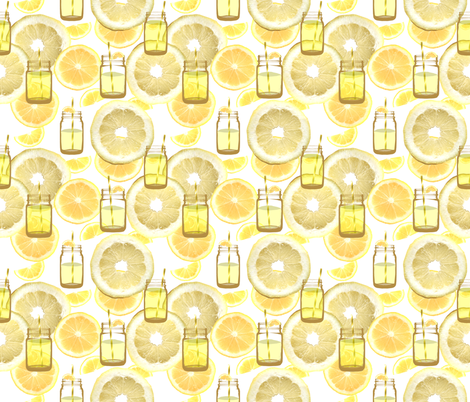 A Jar of Sunshine fabric by irishvikingdesigns on Spoonflower - custom fabric