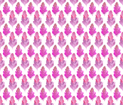Seamless pattern of pink feathers fabric by julia_faranchuk on Spoonflower - custom fabric