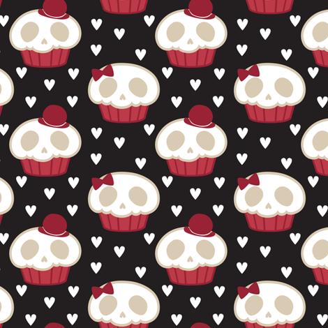 Skullcakes fabric by janekenstein on Spoonflower - custom fabric