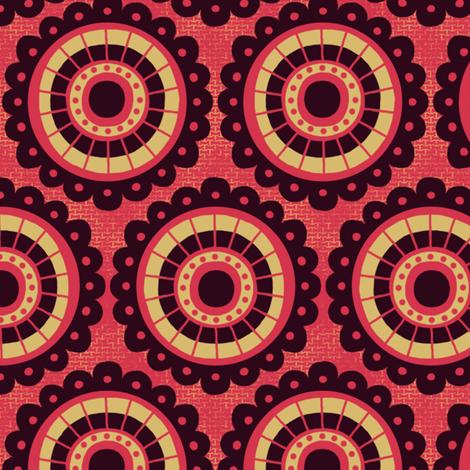 Peoria Re - Flowerburst (Firehouse) fabric by siya on Spoonflower - custom fabric